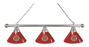 Louisiana-Lafayette 3 Shade Billiard Light