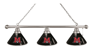 Miami (OH) 3 Shade Billiard Light