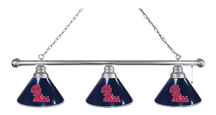 Ole' Miss 3 Shade Billiard Light