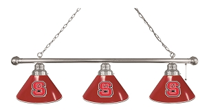 North Carolina State 3 Shade Billiard Light