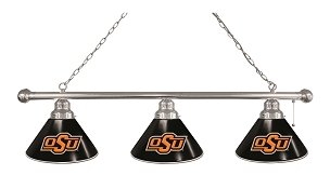 Oklahoma State 3 Shade Billiard Light