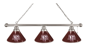 Texas A&M 3 Shade Billiard Light