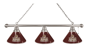 Texas State 3 Shade Billiard Light