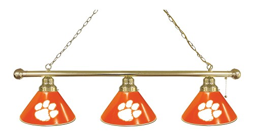 Clemson 3 Shade Billiard Light