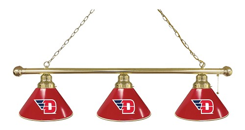 University of Dayton 3 Shade Billiard Light