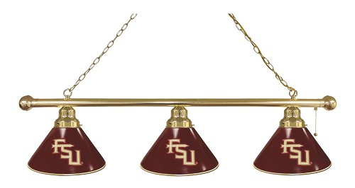 Florida State (Script) 3 Shade Billiard Light