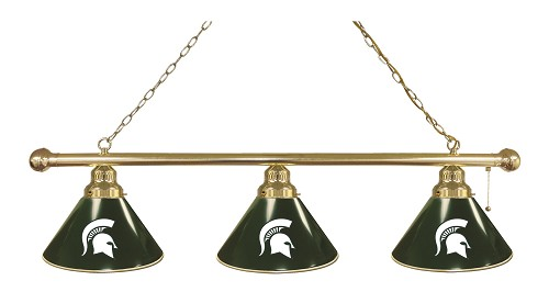 Michigan State 3 Shade Billiard Light