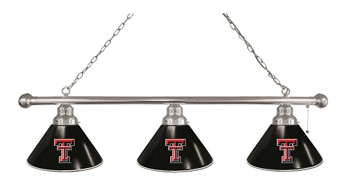 Texas Tech 3 Shade Billiard Light
